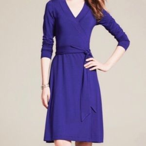 Banana Republic | Purple Wrap Dress